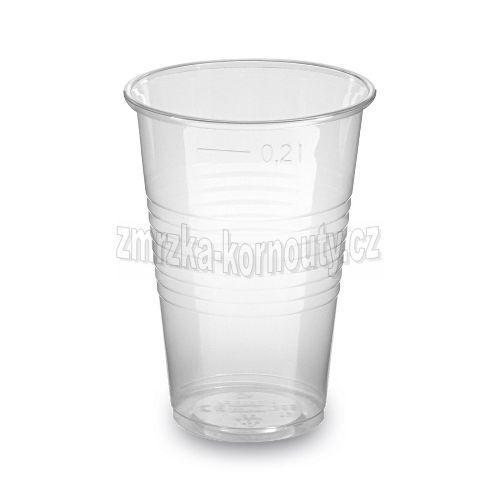Kelímek průhledný 0,2 l (PP), balení 100 ks