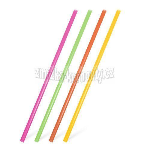 Slámky JUMBO neon mix (PP) průměr 8 mm, délka 25 cm