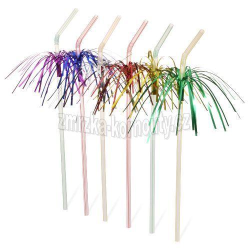 Slámky flexibilní s palmičkou (PP) průměr 5 mm, délka 24 cm