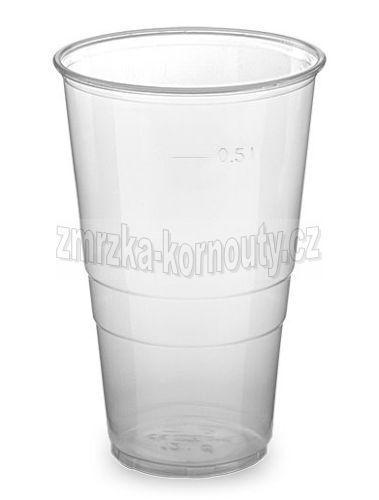 Kelímek průhledný 0,5 l (PP), balení 50 ks