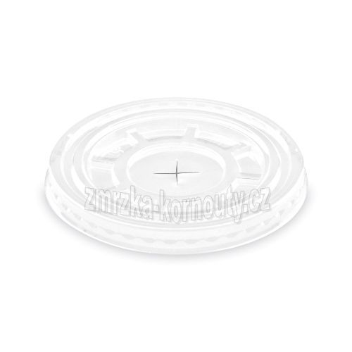 Víčko ploché s křížovým otvorem (PET), průměr 95 mm, balení 50 ks