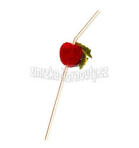 Slámky flexibilní s ovocem (PP) průměr 5 mm, délka 24 cm