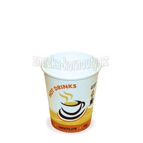 """Papírové kelímky """"HOT DRINKS"""", 280 ml, průměr 80 mm, balení 50 ks."""