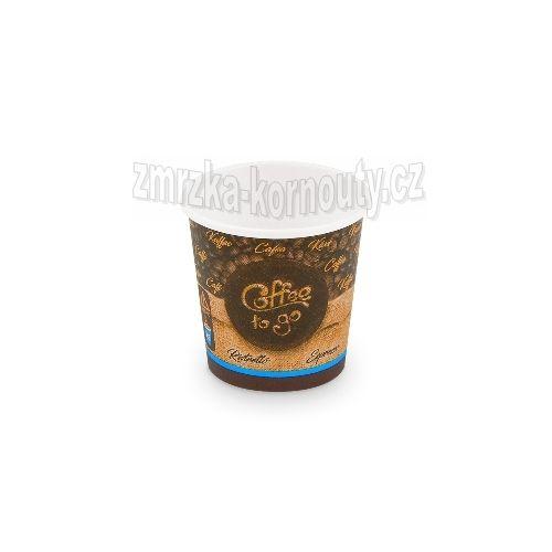 """Papírové kelímky """"Coffee to go"""", """"XS"""", 110 ml,průměr 62 mm, balení 50 ks."""