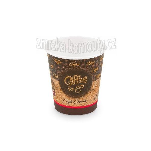 "Papírové kelímky ""Coffee to go"", ""S"", 200 ml,průměr 73 mm, balení 50 ks."