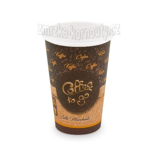 "Papírové kelímky ""Coffee to go"", ""L"", 330 ml,průměr 80 mm, balení 50 ks."