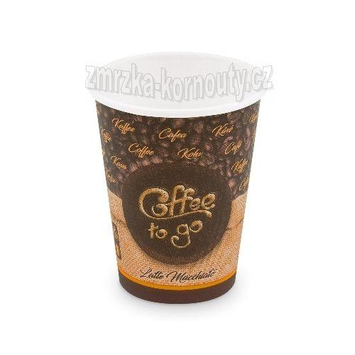 "Papírové kelímky ""Coffee to go"", ""L"", 420 ml,průměr 90 mm, balení 50 ks."