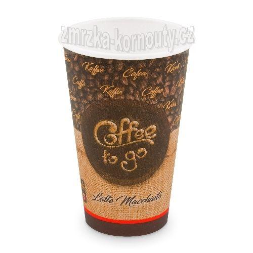 "Papírové kelímky ""Coffee to go"", ""XL"", 510 ml,průměr 90 mm, balení 50 ks."