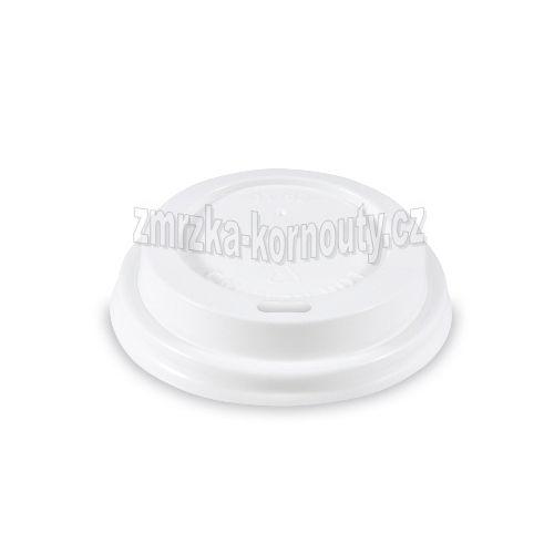 Víčko vypouklé bílé, PS, průměr 73 mm, balení 100 ks.