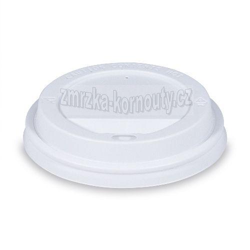Víčko vypouklé bílé, PS, průměr 90 mm, balení 100 ks.