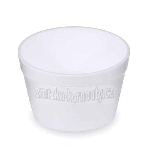 Termo-miska kulatá bílá 460 ml, balení 25 ks