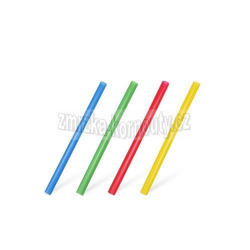 Slámky JUMBO barevný mix (PP) průměr 8 mm, délka 13 cm